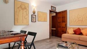 Le Salon Salle à Manger de l'appartement Palazzetto Formosa.
