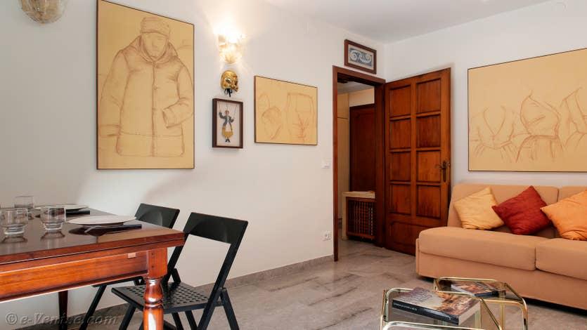 Location Palazzetto Formosa à Venise, le salon salle à manger