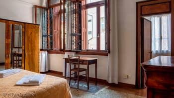 La seconde Chambre de l'appartement du Palazzo Lion, dans le Sestier du Cannaregio à Venise.