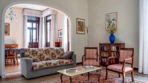 Le Salon de l'appartement du Palazzo Lion, dans le Sestier du Cannaregio à Venise.
