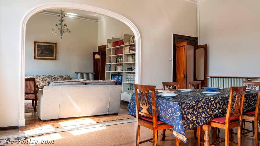 Location Palazzo Lion à Venise, la salle à manger