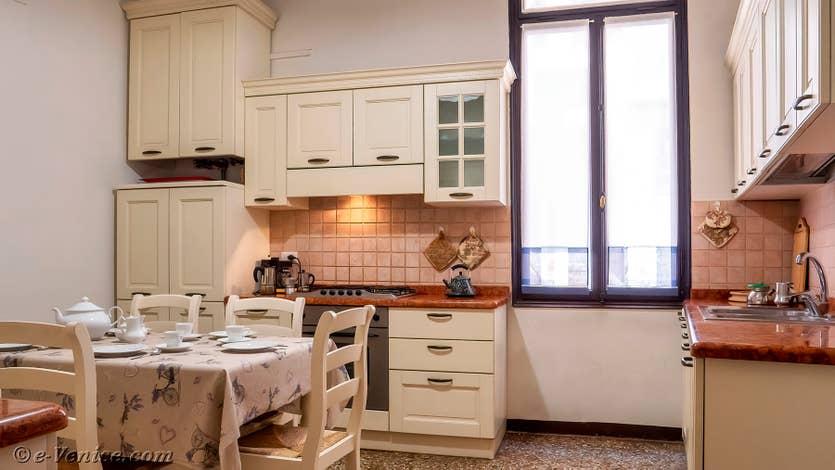 Location Palazzo Lion à Venise, la cuisine