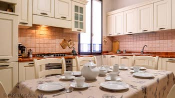 La Cuisine de l'appartement du Palazzo Lion, dans le Sestier du Cannaregio à Venise.