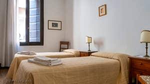 La troisième Chambre de l'appartement du Palazzo Lion, dans le Sestier du Cannaregio à Venise.