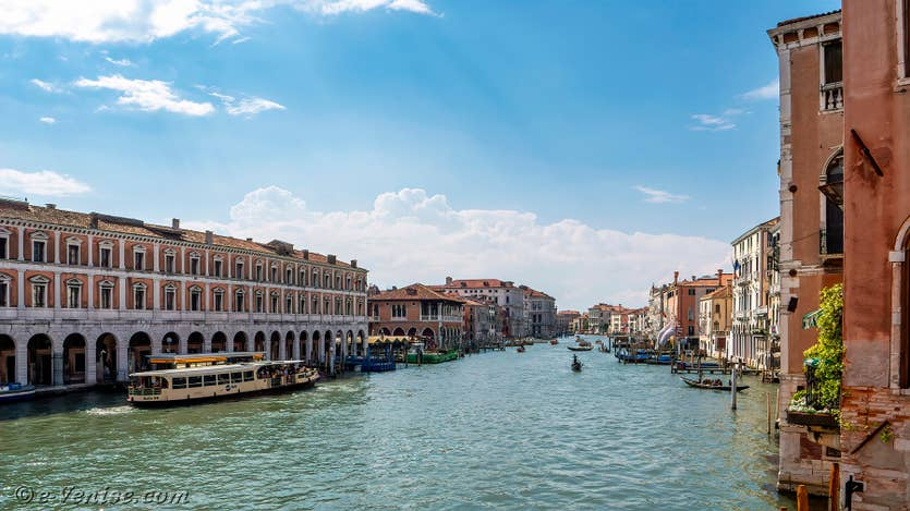 Location Palazzo Lion à Venise, la vue sur le Grand Canal