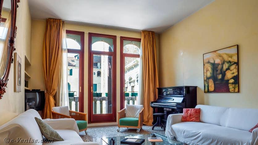 Location Palazzo Silvestro Rava à Venise, le salon