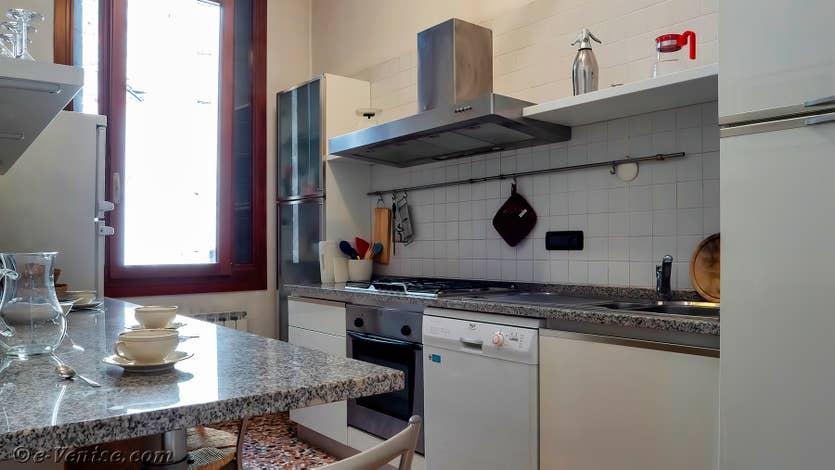 Location Palazzo Silvestro Rava à Venise, la cuisine