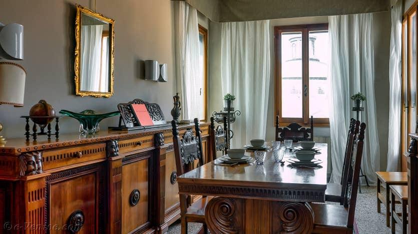 Location Santa Maria Terrasse à Venise, le salon salle à manger
