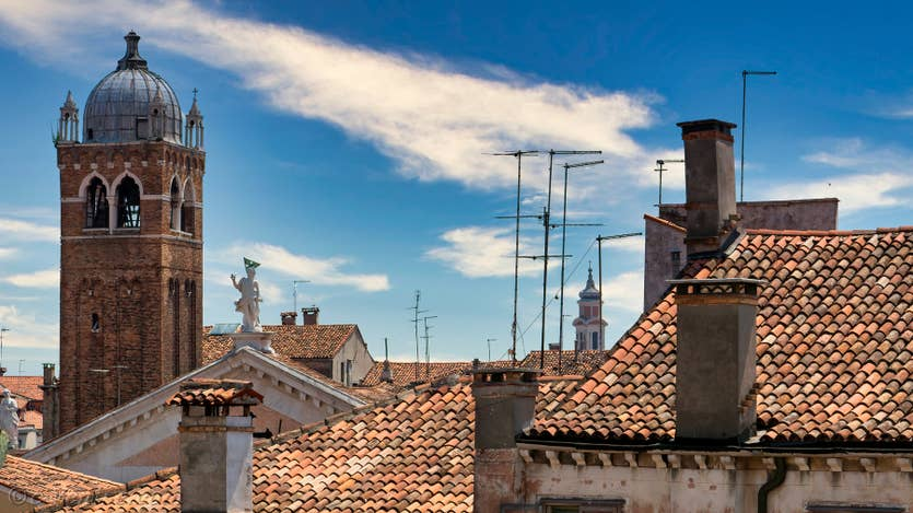 Location Santa Maria Terrasse à Venise, la vue sur les Campaniles