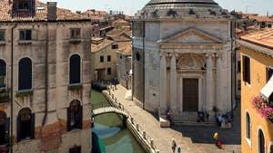 La vue sur l'église et le Campo de la Maddalena.