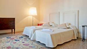 La 2e Chambre de l'appartement Teatro Garzoni, dans le sestier de Saint-Marc à Venise.