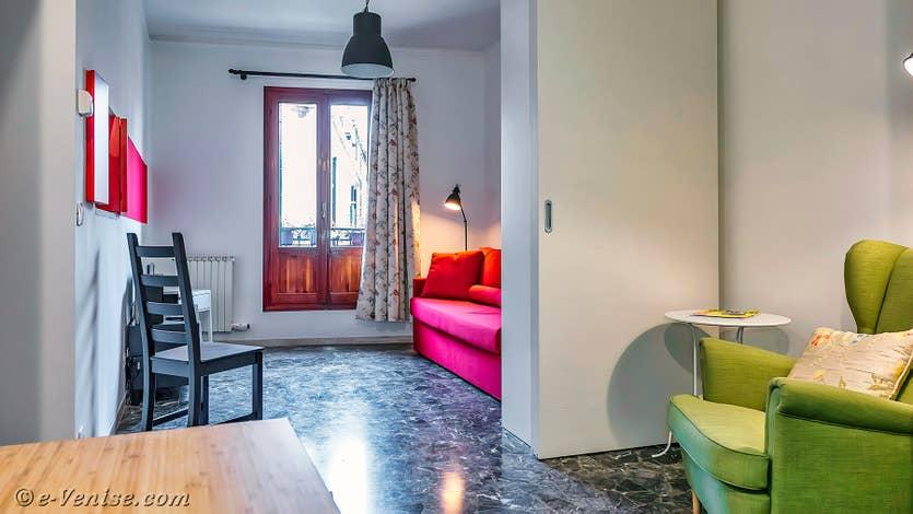 Location Vida Biennale à Venise, le salon principal