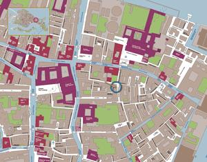 Plan de Situation Casa Bombardieri appartement en location à Venise en Italie