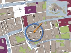 Plan de Situation à Venise de Cerchieri Terrasse