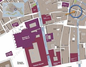 Plan de Situation à Venise de Cristie Terrasse