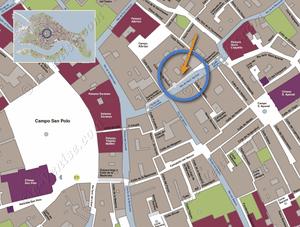 Plan de Situation à Venise de Furatola Aponal