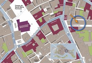 Plan de Situation à Venise de Lorenzo Severo Terrasse