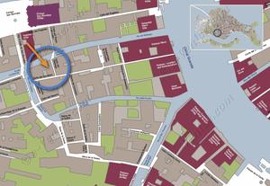 Plan de Situation à Venise de Malpaga Toletta