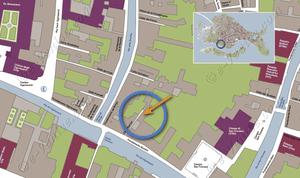 Plan de Situation à Venise d'Ognissanti Trifora