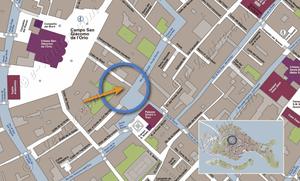 Plan de Situation à Venise d'Orio Boldo