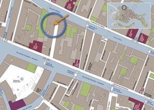 Plan de Situation à Venise d'Ormesini Terrasse