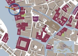 Plan de Situation à Venise du Palazzo Lion