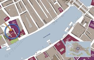 Plan de Situation à Venise du Palazzo Silvestro Rava