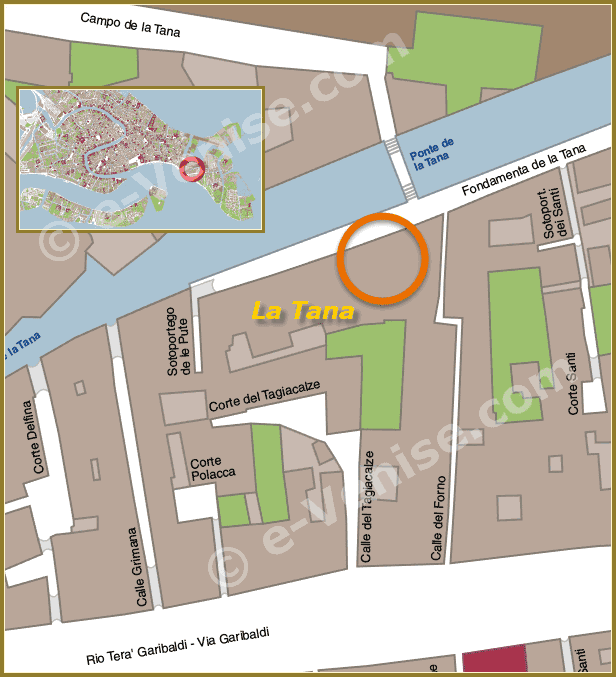 Plan de Situation à Venise de La Tana