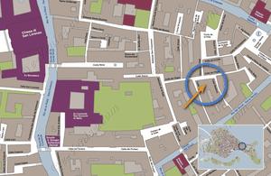 Plan de Situation à Venise de Vida Biennale