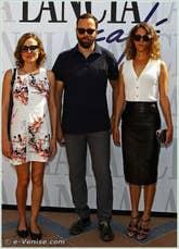 Aggeliki Papoulia Yorgos Lanthimos et Ariane Labed à la Mostra du Cinema de Venise 68e édition internationale du film