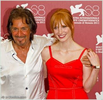 Al Pacino et Jessica Chastain à la Mostra du Cinéma de Venise 68e édition internationale du film