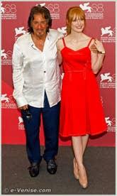 Al Pacino et Jessica Chastain à la Mostra du Cinema de Venise 68e édition internationale du film