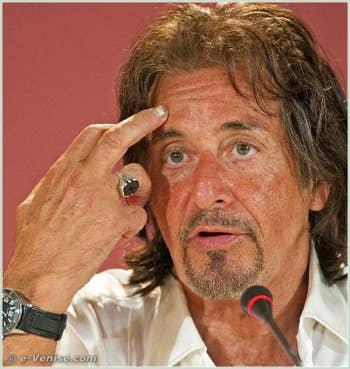 Al Pacino à la 68e Mostra Internationale du Cinéma de Venise
