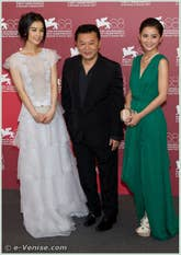 Eva Huang Tony Ching-siu-tung et Charlene Choi à la Mostra du Cinema de Venise 68e édition internationale du film