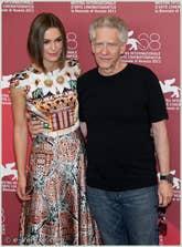 Keira Knightley et David Cronenberg à la Mostra du Cinema de Venise 68e édition internationale du film