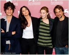 Louis Garrel Monica Bellucci Celine Sallette Jerome Robart à la Mostra du Cinema de Venise 68e édition internationale du film