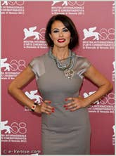 Maria Grazia Cucinotta à la Mostra du Cinema de Venise 68e édition internationale du film