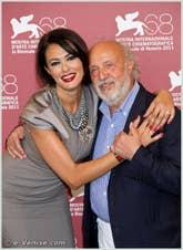 Maria Grazia Cucinotta et Renato Scarpa à la Mostra du Cinema de Venise 68e édition internationale du film