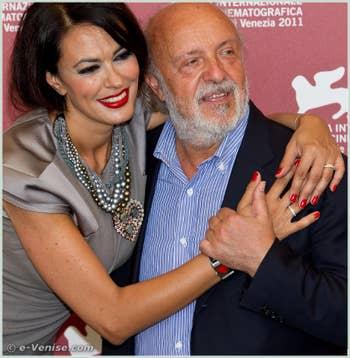 Maria Grazia Cucinotta et Renato Scarpa à la Mostra du Cinéma de Venise 68e édition internationale du film