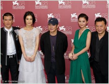 Raymond Lam Jet Li Eva Huang Tony Ching-siu-tung Charlene Choi à la Mostra du Cinéma de Venise 68e édition internationale du film