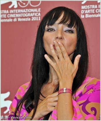 Maria de Medeiros à la Mostra du Cinéma de Venise 68e édition internationale du film