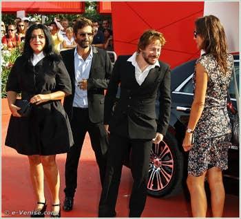 Marjane Satrapi, Vincent Paronnaud, Mathieu Amalric à la Mostra du Cinéma de Venise 68e édition internationale du film