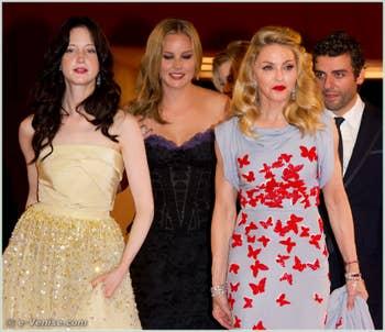 Andrea Riseborough Abbie Cornish Madonna et Oscar Isaac à la Mostra du Cinéma de Venise édition internationale du film
