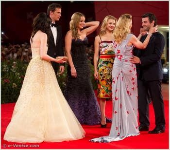 Andrea Riseborough James d'Arcy Abbie Cornish Natalie Dormer Madonna Oscar Isaac à la Mostra du Cinéma de Venise édition internationale du film