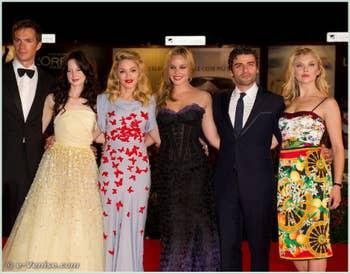 James d'Arcy Andrea Riseborough Madonna Abbie Cornish Oscar Isaac Natalie Dormer à la Mostra du Cinéma de Venise édition internationale du film