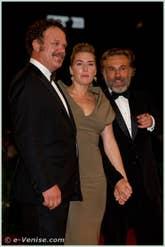 John C. Reilly Kate Winslet et Christoph Waltz à la Mostra du Cinema de Venise édition internationale du film
