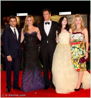 Natalie Dormer Oscar Isaac Abbie Cornish Andrea Riseborough James d'Arcy à la Mostra du Cinéma de Venise 68e édition internationale du film