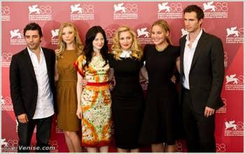 Oscar Isaac, Natalie Dormer, Andrea Riseborough, Madonna, Abbie Cornish, James d'Arcy à La Mostra du Cinéma de Venise édition internationale du film