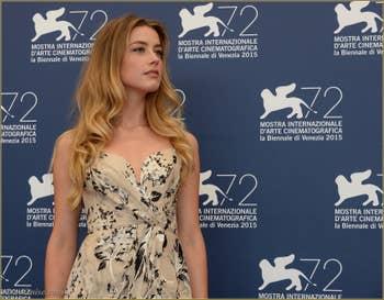 Amber Heard à la Mostra de Venise, le Festival du Cinéma de Venise 2015
