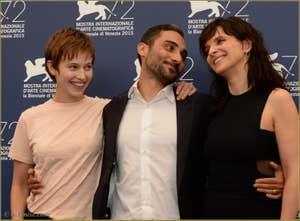 Lou de Laage, Piero Messina et Juliette Binoche à la Mostra de Venise, le Festival du Cinéma de Venise 2015